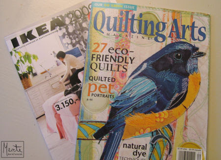 ikea + quilting arts magazine