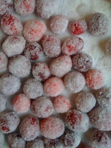 Birthday Sugared Cranberries