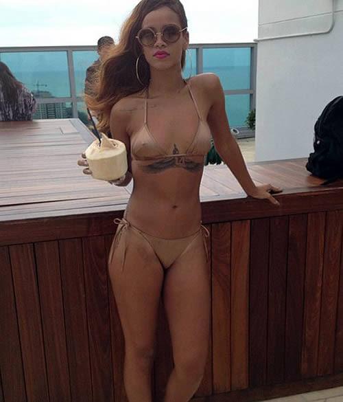 Rihanna Gold Bikini