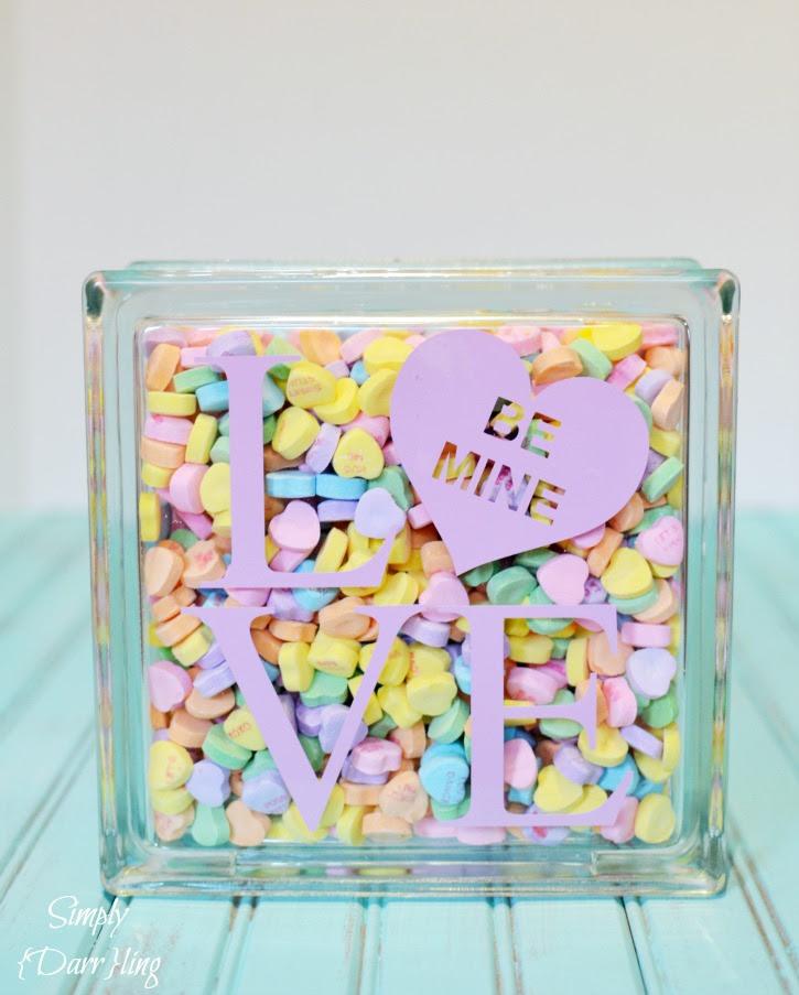 Valentine's Day Conversation Heart LOVE decor