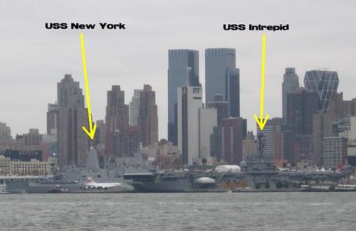 USS New York and USS Intrepid