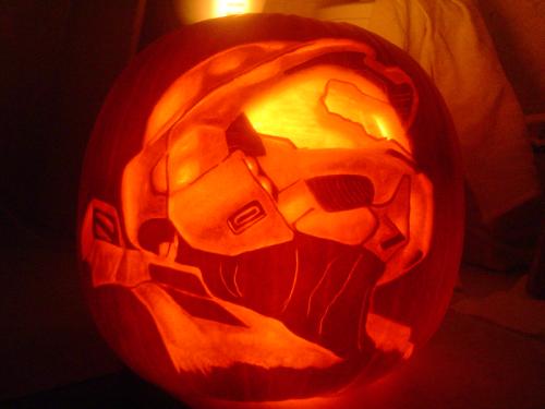 Halo 3 Pumpkin by Cipher002
