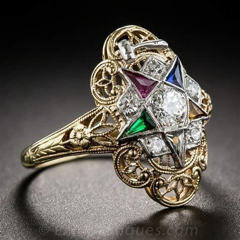 Order of the Eastern Star Masonic Ring