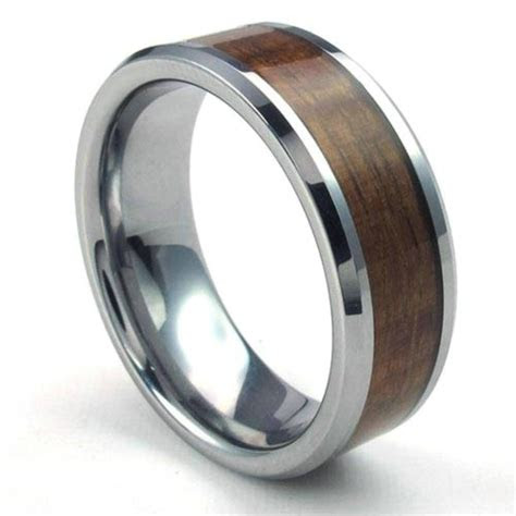 collection  mens wood grain wedding bands