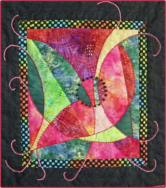 Mystical Beaded Fantasy Quilt by ArtQuiltsArtQuilts on Etsy