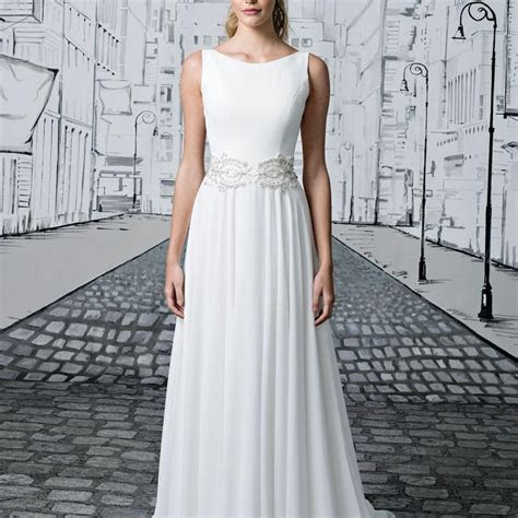 Justin Alexander Ivory Chiffon 8894 Vintage Wedding Dress