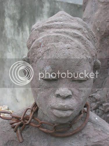 statue of female slave 18th century