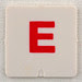 hangman tile red letter E
