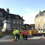 Nolay | Nolay : les travaux de réaménagement de la place Carnot ont été lancés
