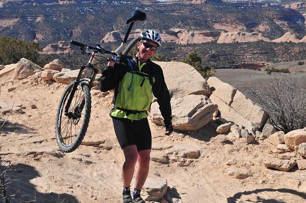 mountain biking outside of Loma