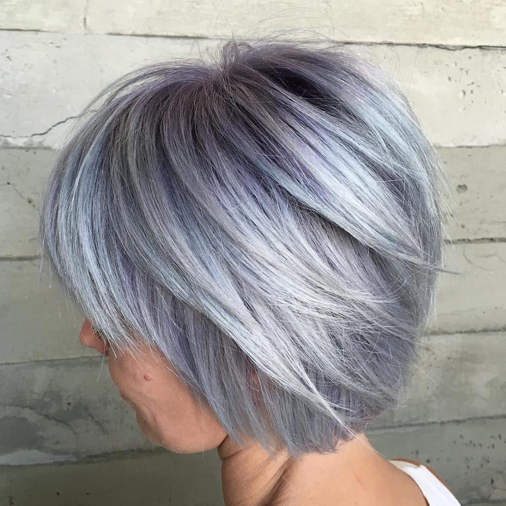 53+ Layered Grey Hairstyles