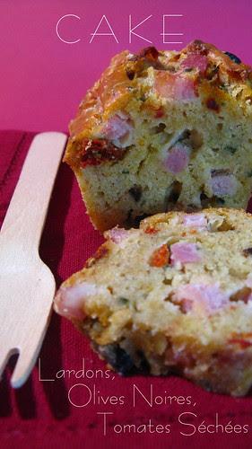 Cake Tomates séchées, Lardons & Olives noires_3