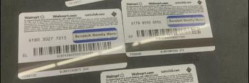 Walmart Gift Card Number