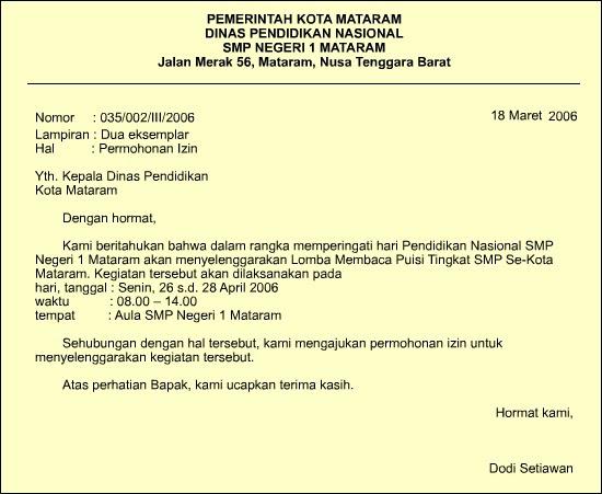 surat undangan untuk acara contoh isi undangan