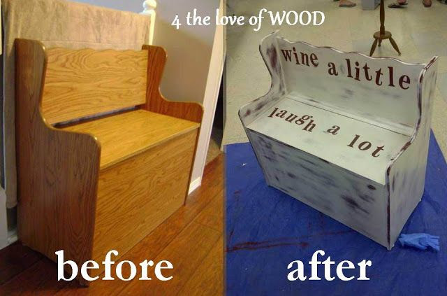 4 the love of wood: FURNITURE MAKE OVERS - before and afters 2