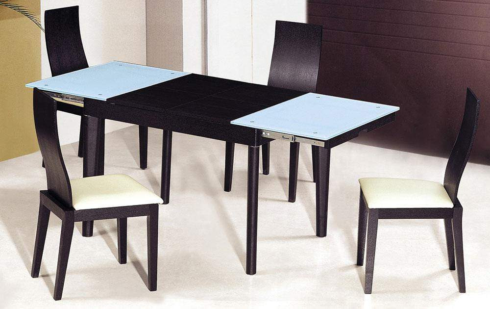 Extendable Wooden with Glass Top Modern Dining Table Sets ...