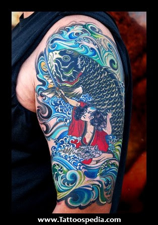 Japanese Half Sleeve Tattoo Design For Women