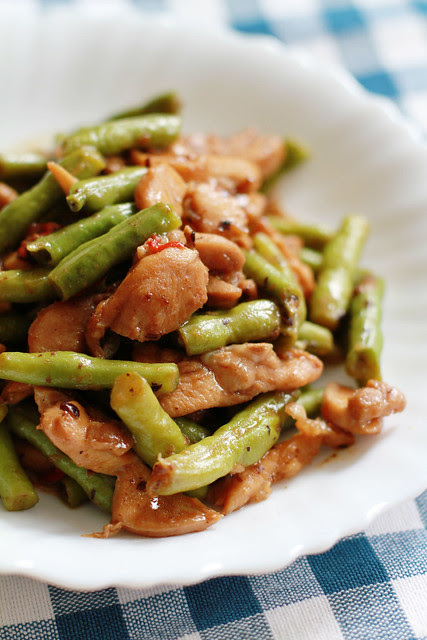 Chicken and Long Beans Stir Fry with Fermented Black Beans
