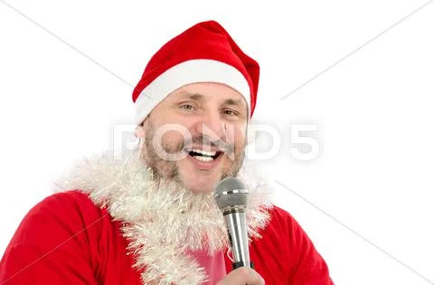 Happy Santa singing