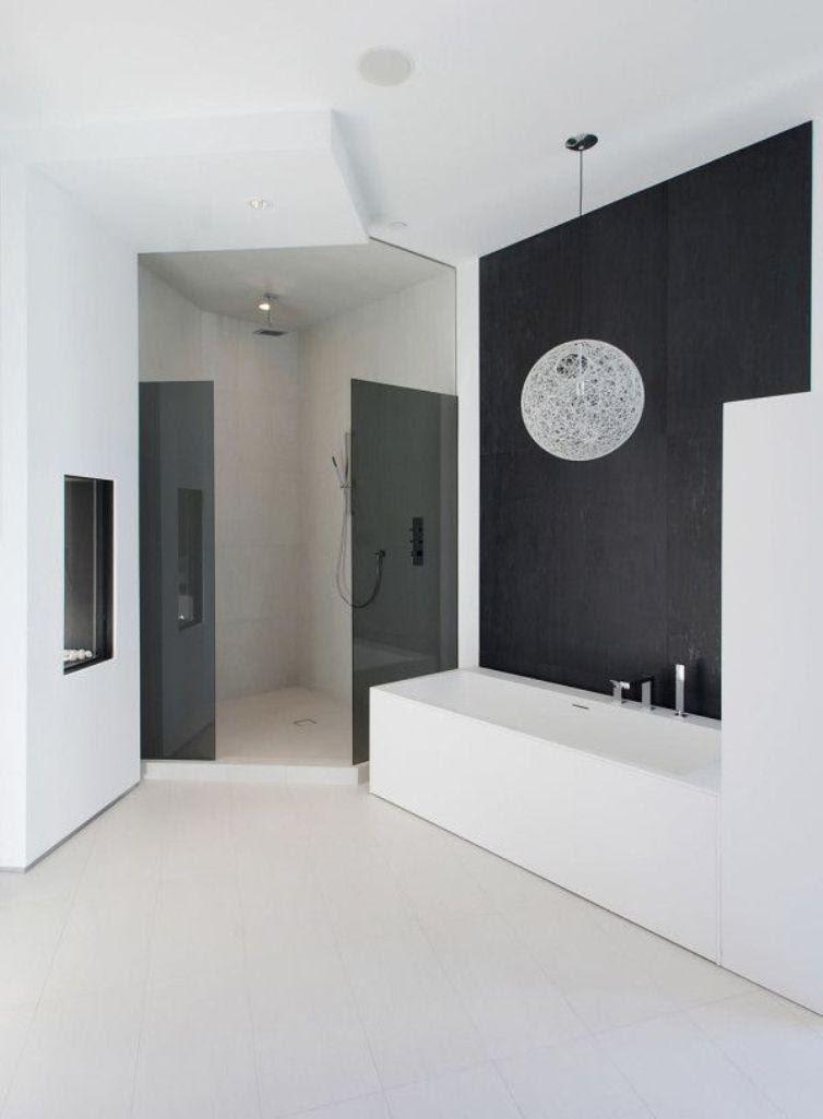 15 Contemporary Black and White Bathroom Ideas - Rilane