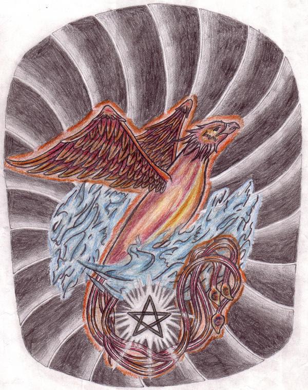 Phoenix Half Sleeve - sleeve tattoo
