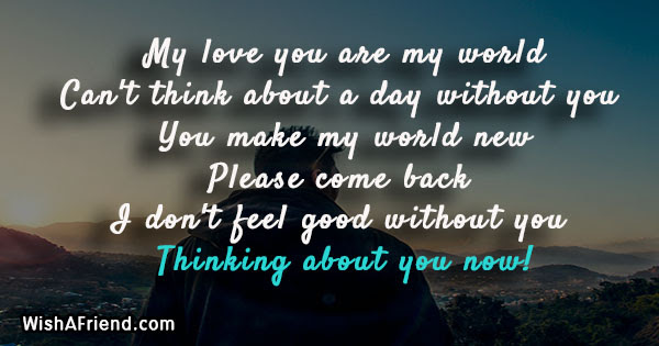 My Love You Are My World Thinking Of You Message For Her