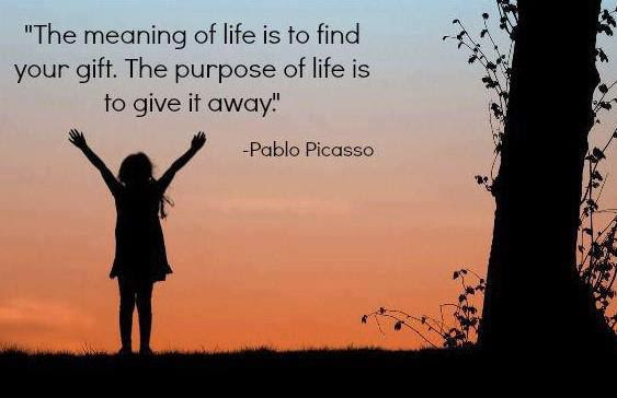 Image result for the purpose of life quote pablo picasso