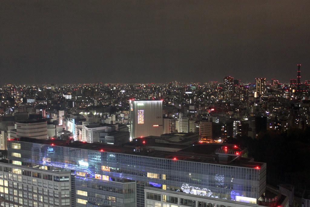 Anochece en Tokyo