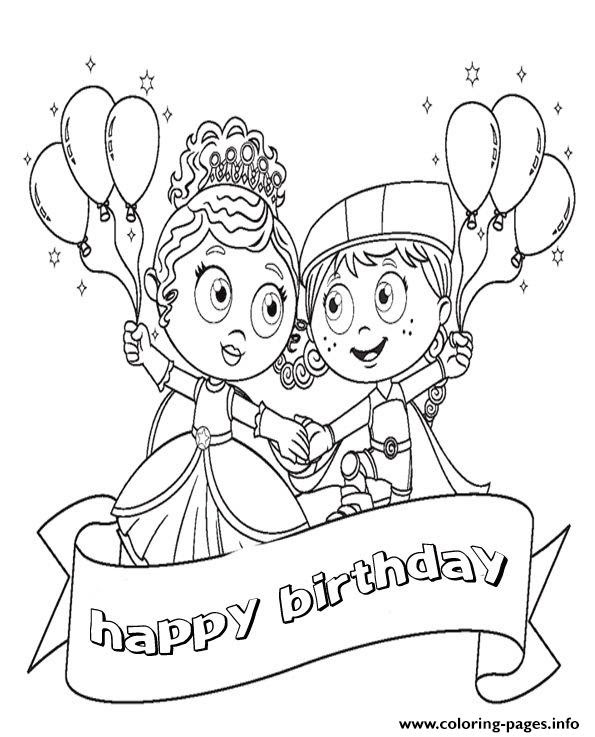 Happy Birthday Disney Cartoonf9f2 Coloring Pages Printable