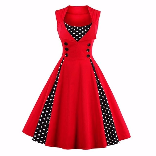 Vestido Vintage Pin Up Años 50 Rockabilly
