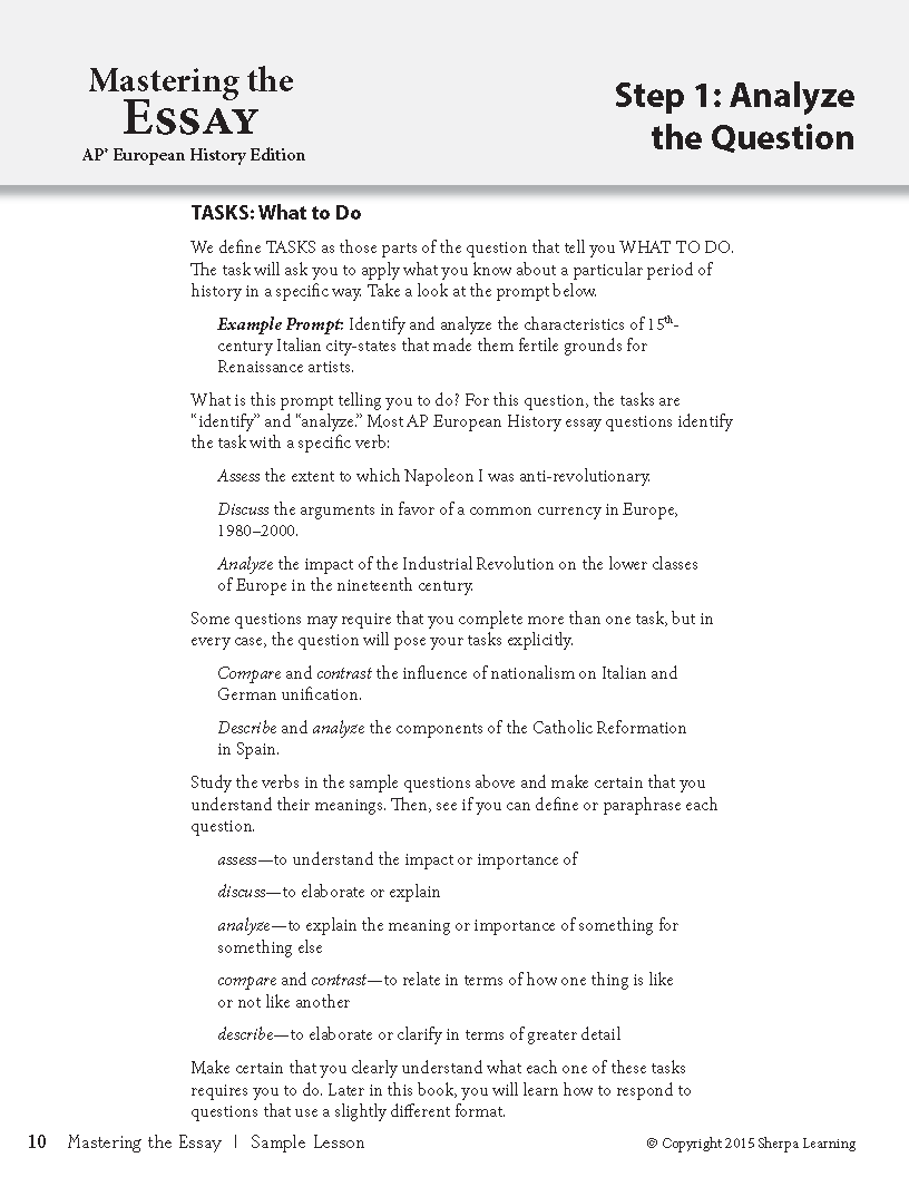 how to write a history essay questions and answers