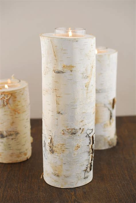 "10"" Natural Birch Tree Branch Candle Holders"