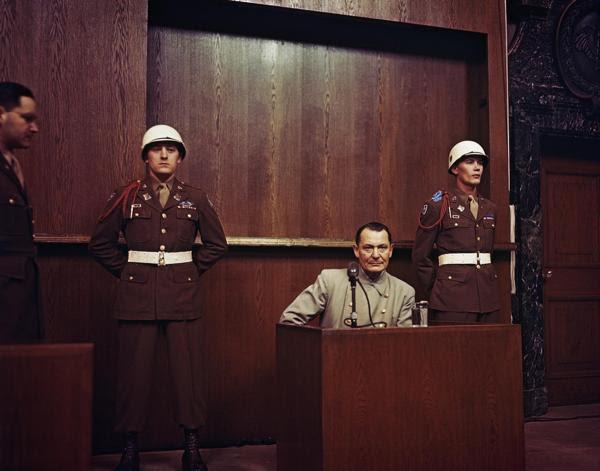 Göring en el proceso de Nuremberg