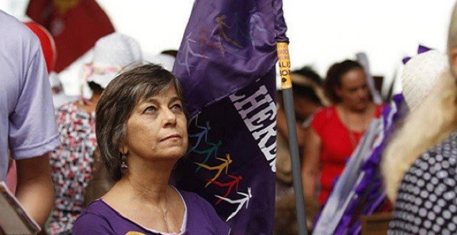 La dirigente feminista brasileña Nalu Faria