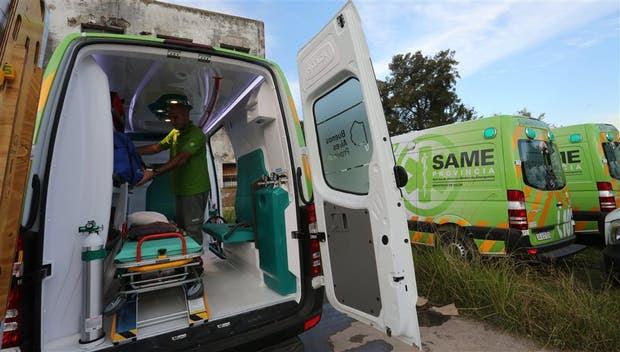 Los móviles que, desde ayer, asisten urgencias médicas en el Gran Buenos Aires