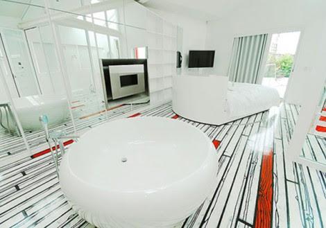 White Black Flooring design pictures