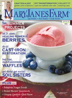 Current Cover of MaryJanesFarm magazine