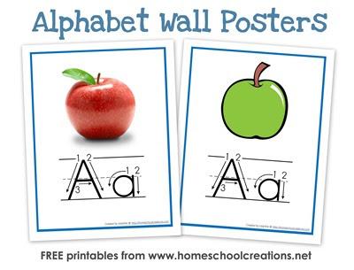La pared del alfabeto Posters