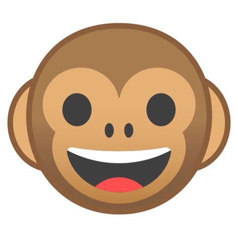 monyet wajah ikon gratis  noto emoji animals nature icons