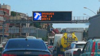 Panell de trànsit a la Meridiana