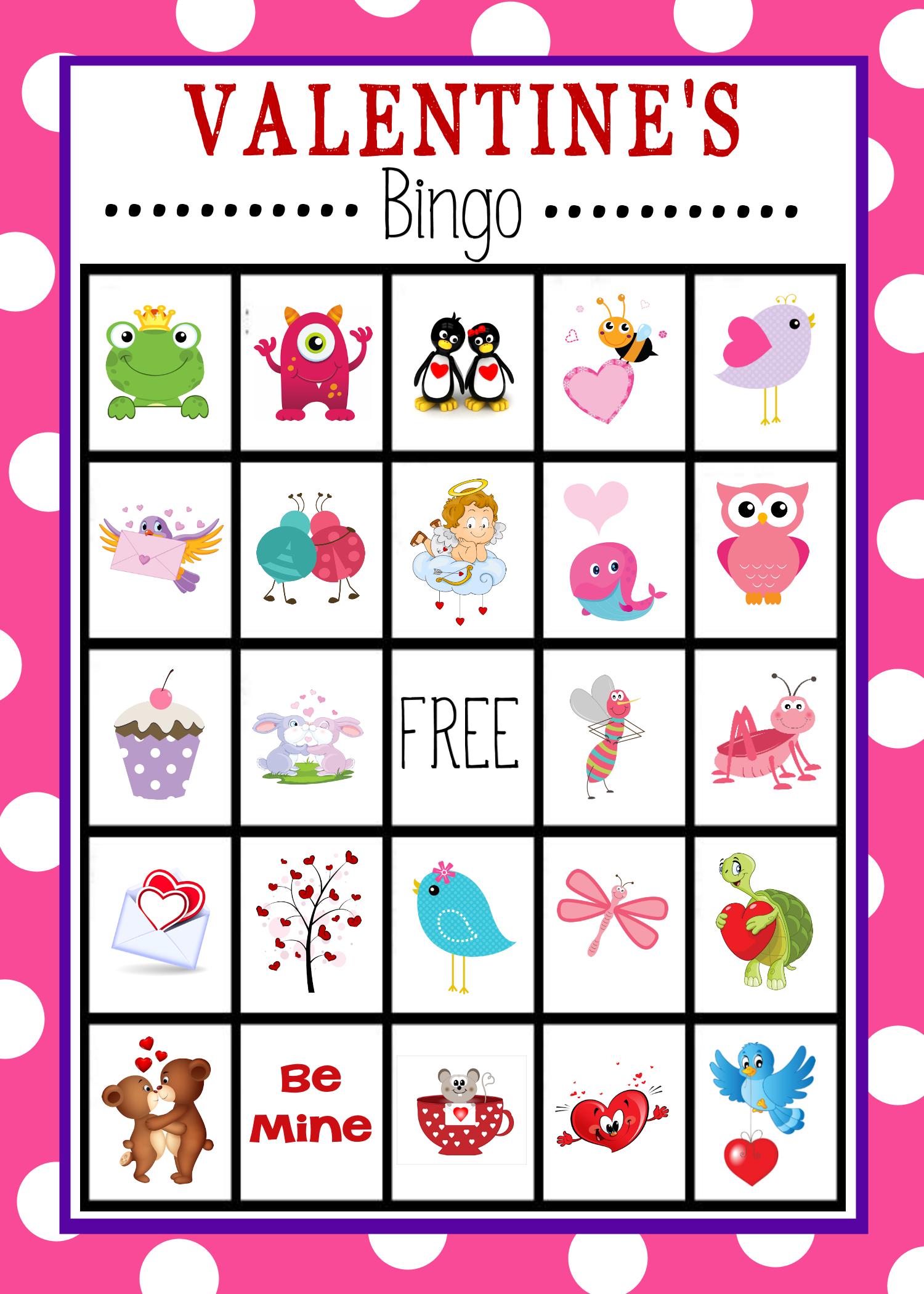 Printable Bingo Cards Valentine