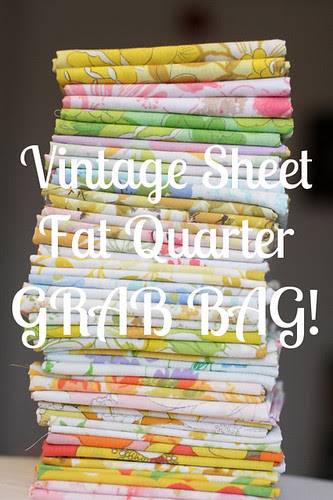 Vintage Sheet Fat Quarters by jenib320