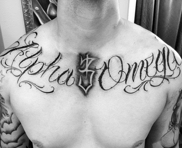 50 Collar Bone Tattoos For Men Clavicle Design Ideas