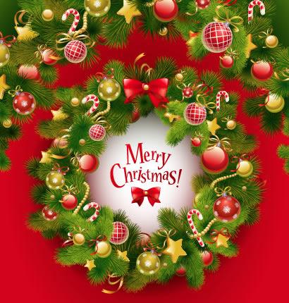 クリスマスリース飾り枠フレームのイラストaieps ベクタークラブ