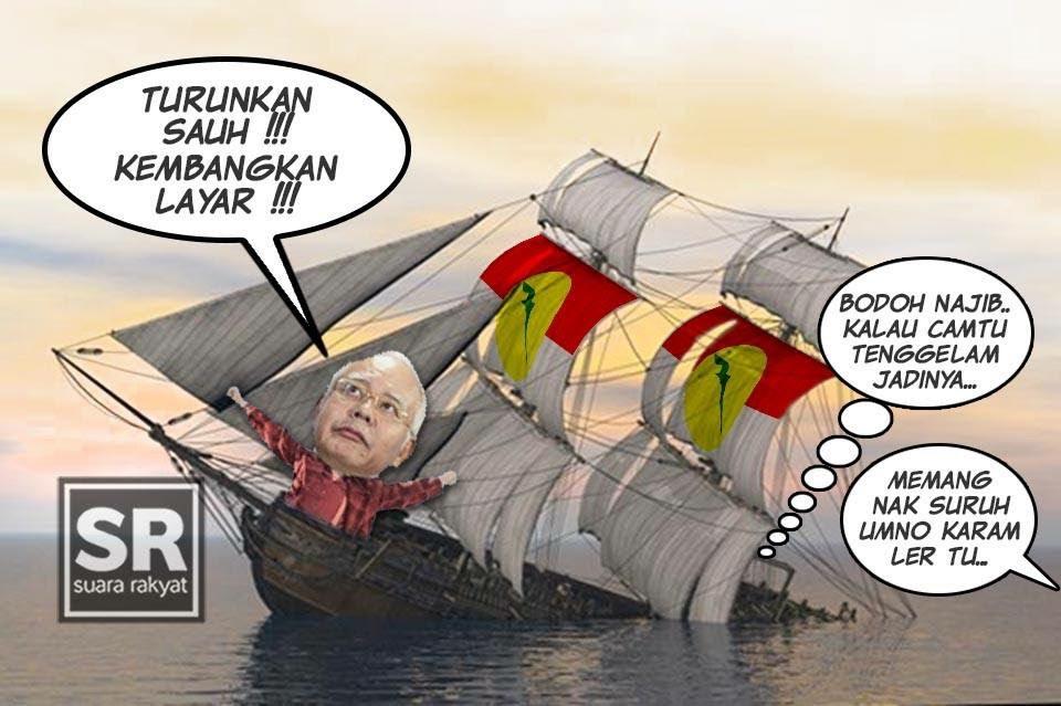 Image result for Sinking UMNO ship