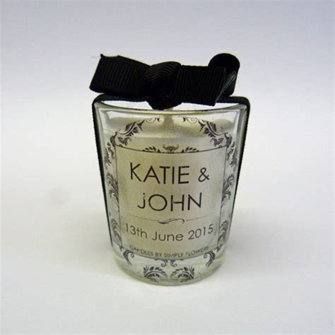 Personalised Wedding Favour Votive Candles   Candles by