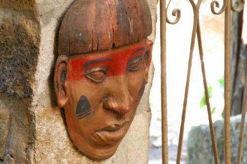 African mask, Goias Velho, Brazil, Images by Sunil Deepak