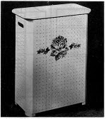 Clothes Hamper Vintage Woodworking Plan - fee plans from WoodworkersWorkshop® Online Store - furniture,clothes hampers,full sized patterns,vintage woodworking plans,old projects,recycled,woodworkers projects,blueprints,drawings,blueprints,how-to-build