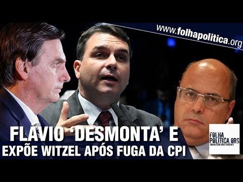 Flávio Bolsonaro desmonta Witzel após 'fuga' da CPI e expõe perguntas que fizeram ex-governador 'correr': 'Arregão, mentiroso'