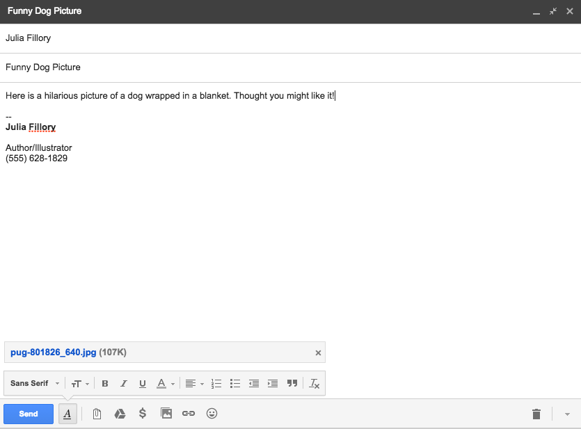 Gmail: Sending Email  Page 2